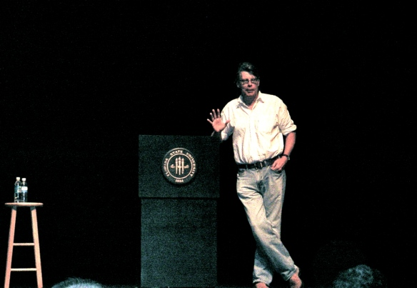 Stephen King @ Florida State University via Love at First Book