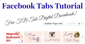 Facebook Tab Tutorial via Love at First Book