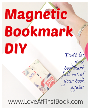 Magnetic Bookmark DIY via Love at First Book