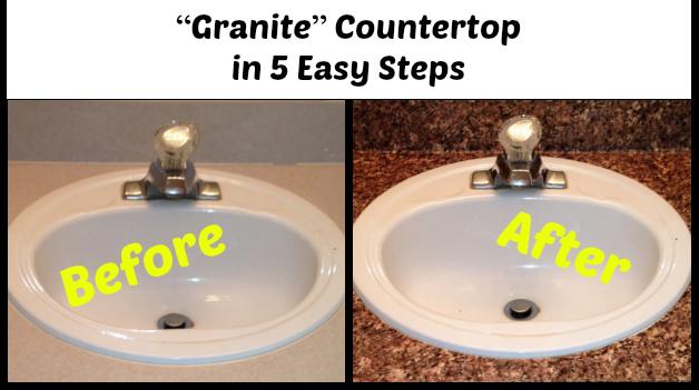 Beau U201cGraniteu201d Countertop In 5 Easy Steps