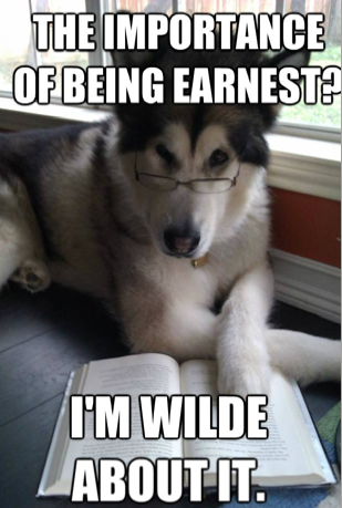 Condescending Literary Pun Dog via Love at First Book